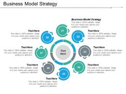 Business Model Strategy Ppt Powerpoint Presentation Icon Information Cpb