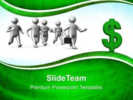 Business Model Strategy Templates Running Towards Dollar Finance Success Ppt Themes Powerpoint
