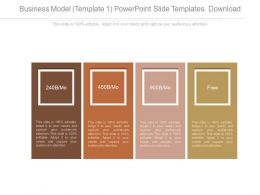 Business Model Template 1 Powerpoint Slide Templates Download