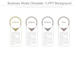 Business Model Template 1 Ppt Background