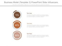 Business Model Template 2 Powerpoint Slide Influencers
