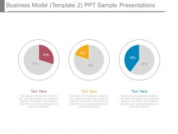 Business Model Template 2 Ppt Sample Presentations
