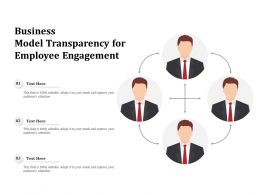 Business Model Transparency For Employee Engagement