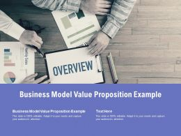 Business Model Value Proposition Example Ppt Powerpoint Presentation Infographics Guide Cpb