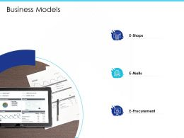 Business Models E Malls M2024 Ppt Powerpoint Presentation Professional Examples