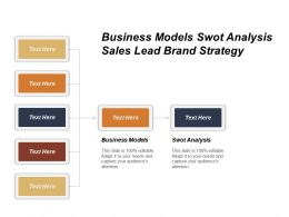 Business Models Swot Analysis Sales Lead Brand Strategy