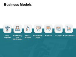 Business Models Warehousing Ppt Powerpoint Presentation Layouts Infographic