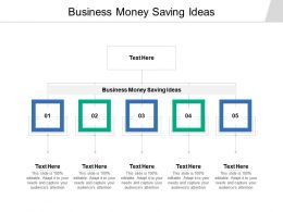 Business Money Saving Ideas Ppt Powerpoint Presentation Styles Background Image Cpb