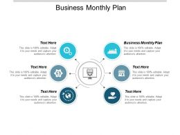 Business Monthly Plan Ppt Powerpoint Presentation Gallery Clipart Images Cpb