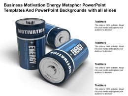 Business Motivation Energy Metaphor Powerpoint Templates And Backgrounds With All Slides