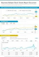 Business Multiple Stock Charts Report Document Presentation Infographic PPT PDF