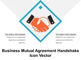 Business Mutual Agreement Handshake Icon Vector