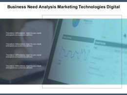 Business Need Analysis Marketing Technologies Digital