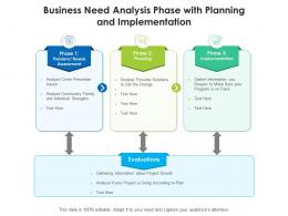 Business Need Analysis Phase With Planning And Implementation