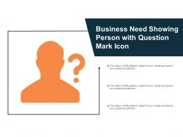 Business Need Showing Person With Question Mark Icon