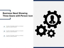 Business Need Showing Three Gears With Person Icon