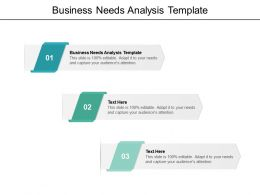 Business Needs Analysis Template Ppt Powerpoint Presentation Pictures Cpb