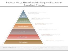 Business Needs Hierarchy Model Diagram Presentation Powerpoint Example