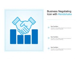Business Negotiating Icon With Handshake