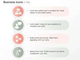 Business Network Communicating Share A Plus Ppt Icons Graphics