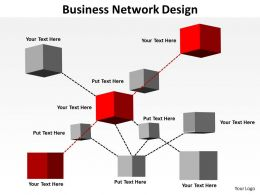 business network design shown by inter connected blocks cubes boxes powerpoint templates 0712
