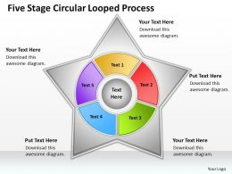 Business Network Diagram Circular Looped Process Powerpoint Templates PPT Backgrounds For Slides