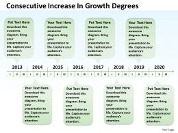 Business Network Diagram Consecutive Increase Growth Degrees Powerpoint Templates