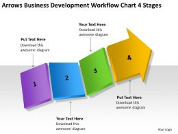 Business Network Diagram Examples Development Workflow Chart 4 Stages Powerpoint Slides