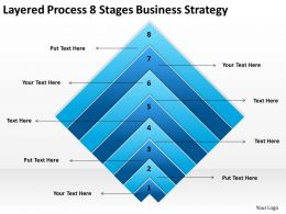 Business Network Diagram Examples Layered Process 8 Stages Strategy Powerpoint Templates 0522