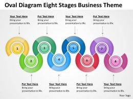 Business Network Diagram Examples Oval Eight Stages Theme Powerpoint Slides 0523