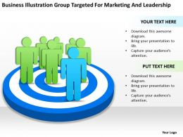 Business Network Diagram Illustration Group Targeted For Marketing And Leadership Powerpoint Slides