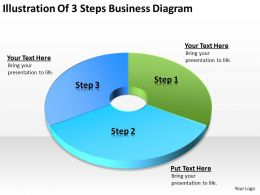 Business Network Diagram Illustration Of 3 Steps Powerpoint Templates