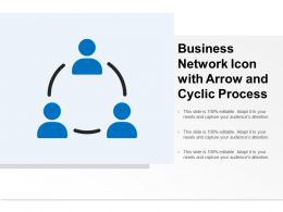 Business Network Icon With Arrow And Cyclic Process