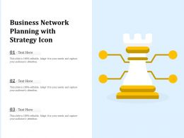 Business Network Planning With Strategy Icon