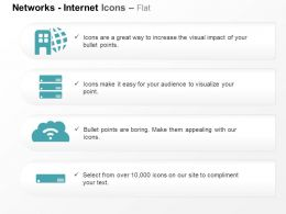 Business Network Server Wifi Connection Projector Ppt Icons Graphics