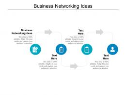 Business Networking Ideas Ppt Powerpoint Presentation Show Graphics Template Cpb