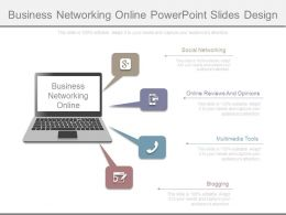 Business Networking Online Powerpoint Slides Design