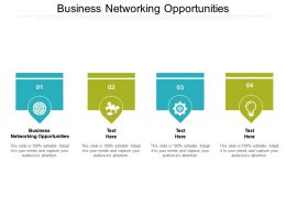 Business Networking Opportunities Ppt Powerpoint Presentation Professional Graphics Example Cpb