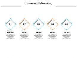 Business Networking Ppt Powerpoint Presentation Icon Designs Cpb