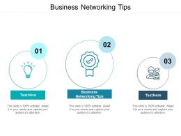 Business Networking Tips Ppt Powerpoint Presentation Portfolio Example Topics Cpb