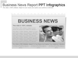 Business News Report Pptinfographics
