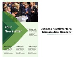 Business Newsletter For A Pharmaceutical Company