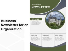 Business Newsletter For An Organization
