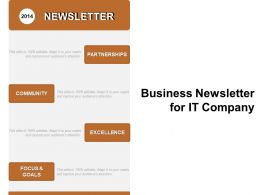 Business Newsletter For It Company