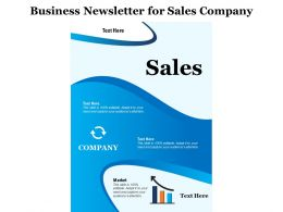 Business Newsletter For Sales Company