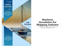 Business Newsletter For Shipping Industry