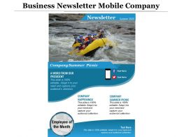 Business Newsletter Mobile Company