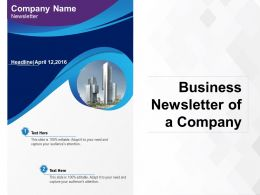 Business Newsletter Of A Company
