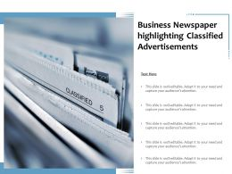 Business Newspaper Highlighting Classified Advertisements