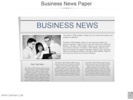 Business Newspaper Powerpoint Slide Background Picture